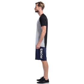 Mons Royale M's Temple Tech Geo T-Shirt Black Grey